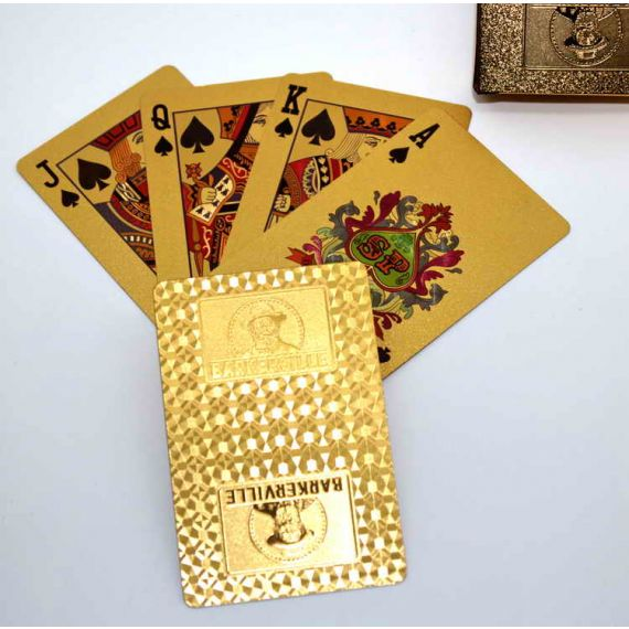 24 k Gold Clad Playing Cards