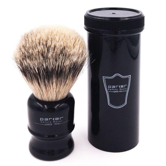 Travel Brush Silver Tip Badger