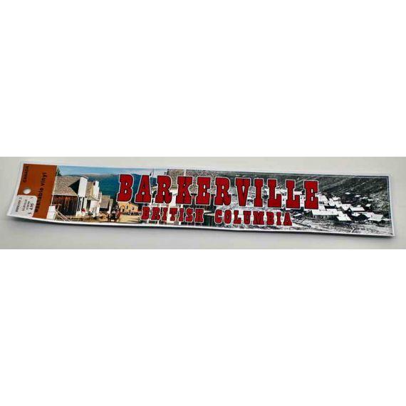 Bumper Sticker Showing 2 Eras of Barkerville