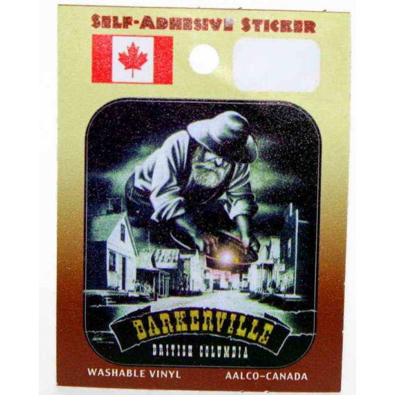 """Bumper Sticker Mystic Miner   (3.75"""" x 3.5"""")  (9.5cm. x 8.0cm.)"""