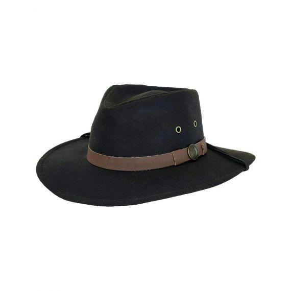 Kodiak Oilskin Hat - Chocolate Brown