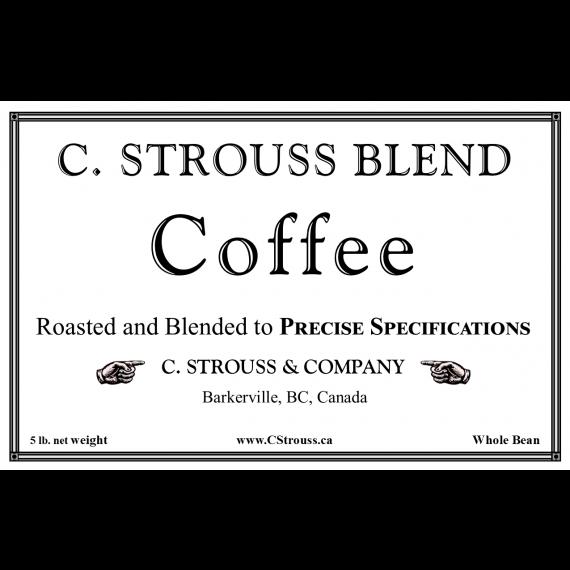 Strouss Blend Coffee-5 lb. Box-Whole Bean
