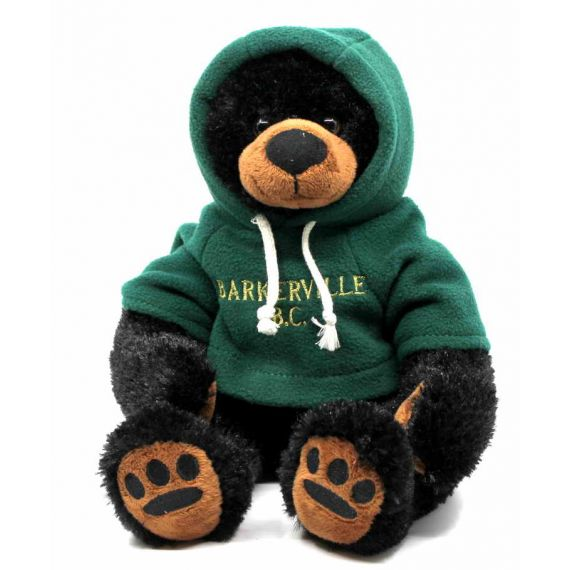 Stuffed Black Bear with Hoodie